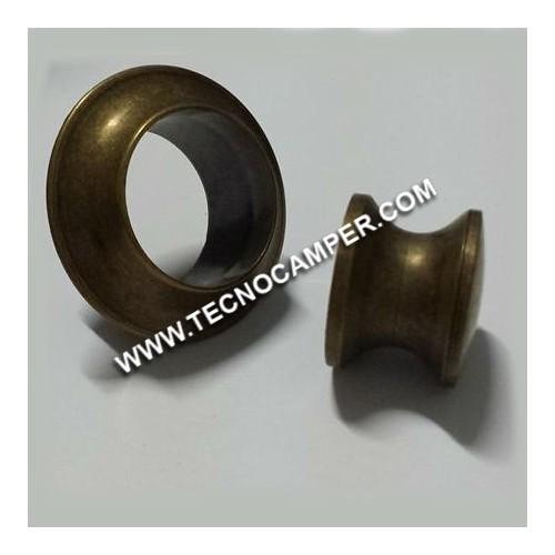 Pomello con rosetta bronzo 13 mm