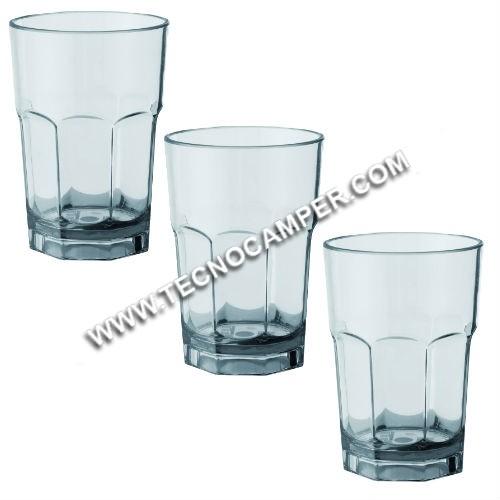 Set 3 bicchieri Octoglass 25cl