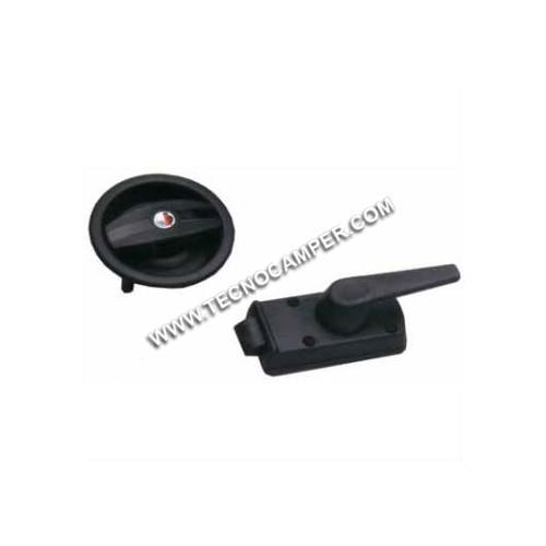 Serratura per porte universale nera dx tecnocamper for Spranga universale per porte