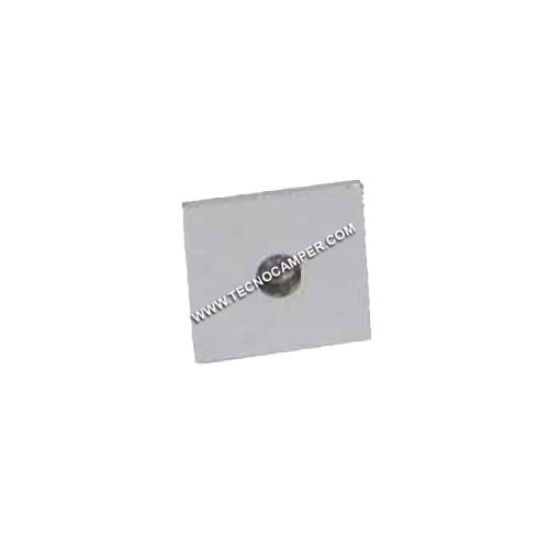 Faretto segnapassi quadrato a 1 LEDs Super Bright in ottone bianco neutro