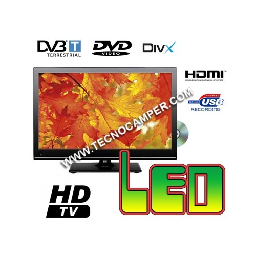 TV  LED Slim 15,6 HD digitale terrestre, USB recording