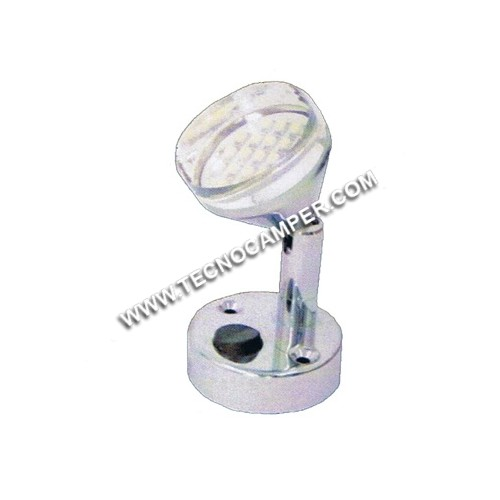 Faretto con snodo 21 LEDs SMD plus Bianco caldo K3600