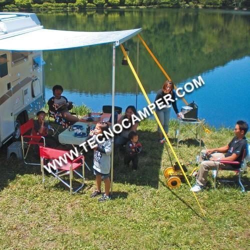 Tent-Safe - Kit di ancoraggio per tendalino NERO