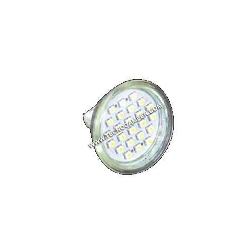 Dicroica MR16 a 24 LEDs SMD plus bianco caldo