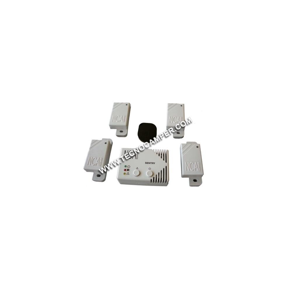 Sentry Sistema Ibrido Antifurto Rilevatore Gas Tecnocamper