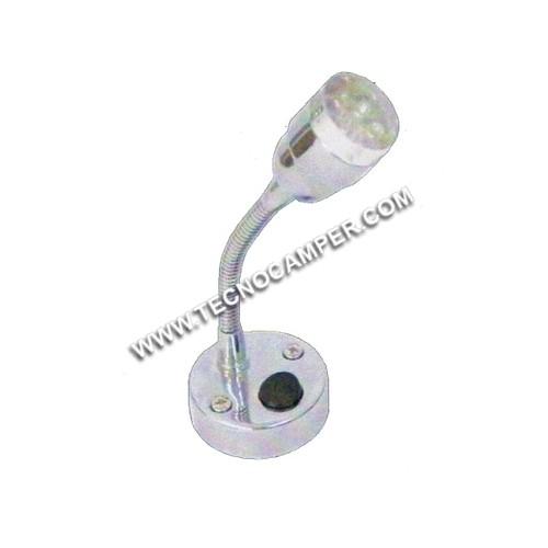 Faretto con flessibile Hi tech Tipo FLEX a 9 LEDs Super Bright K6500
