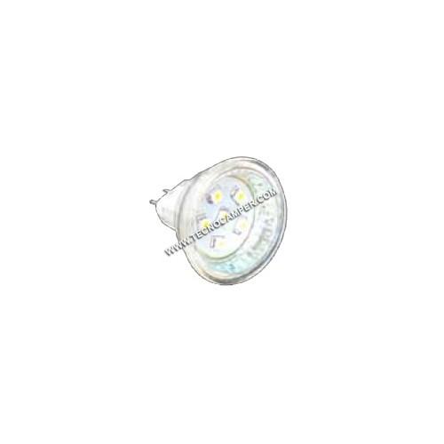 Dicroica MR11 a 6 LEDs SMD plus bianco caldo attacco GU4