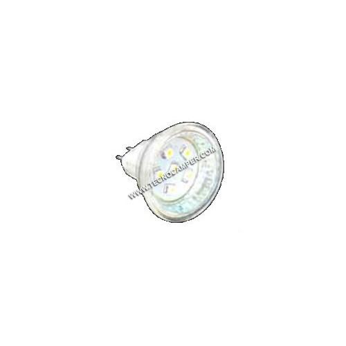 Dicroica MR11 a 6 LEDs SMD plus bianco caldo