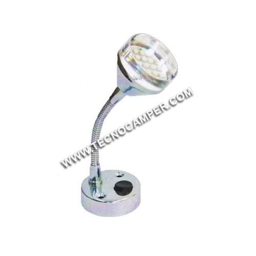 Faretto con flessibile 21 LEDs SMD plus Bianco caldo K3600
