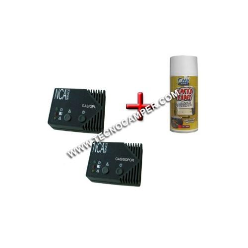 Sistema GAS a 2 sensori GPL/SOPOR + Antifug