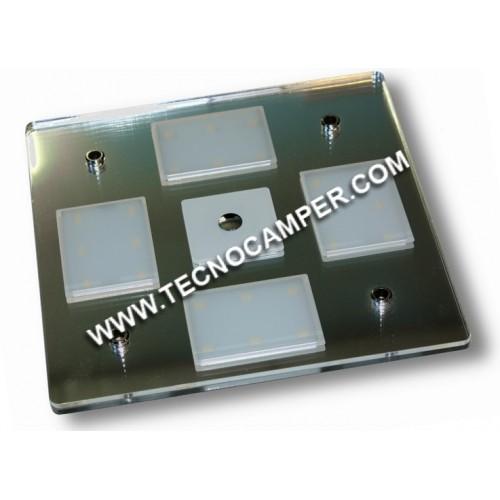 Plafoniera quadra Led touch