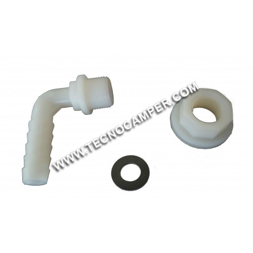 Portagomma in nylon diam. 12 mm filetto 3/8