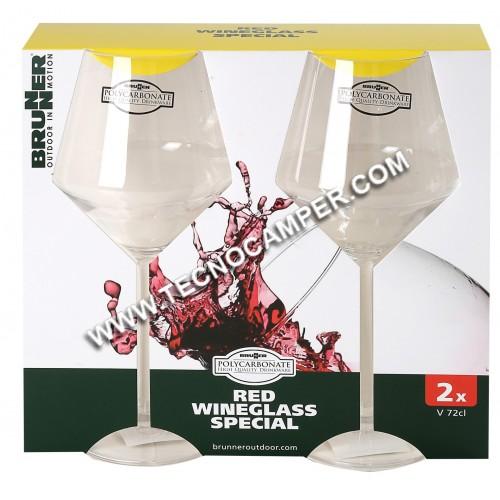 Set 2 calici vino rosso