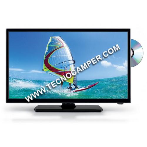"""Televisore 24"""""""" HD sat/ddt con DVD"""