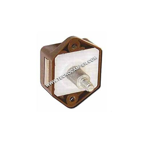 Mini Push-Lock per antine marrone