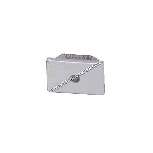 Faretto segnapassi rettangolare a 1 LEDs Super Bright in ABS Bianco neutro