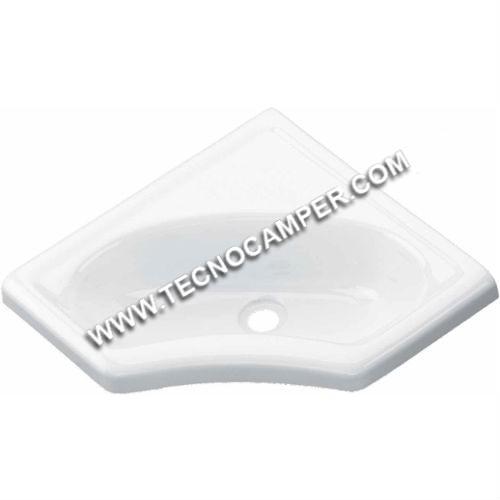 Lavandino per bagno ad angolo - Tecnocamper