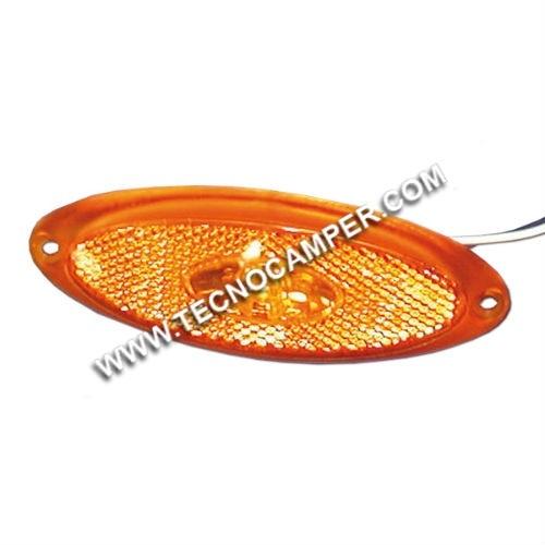 Fanale ingombro lat. LED base arancio