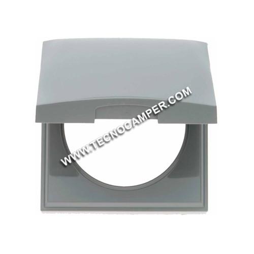Cornice con coperchio per prese grigio