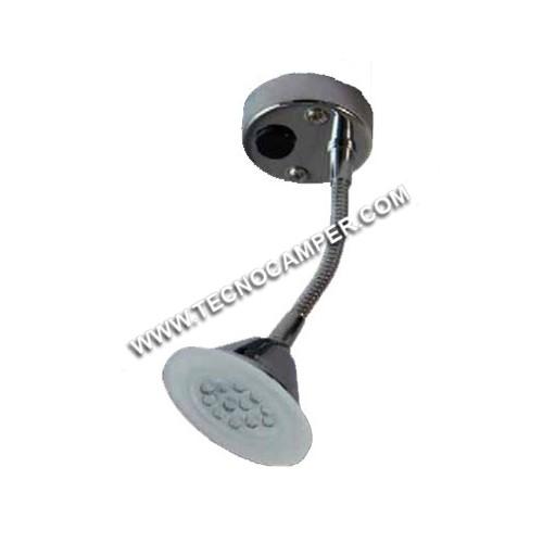 Faretto con flessibile Hi tech Tipo FLEX a 21 LEDs Super Bright K6500