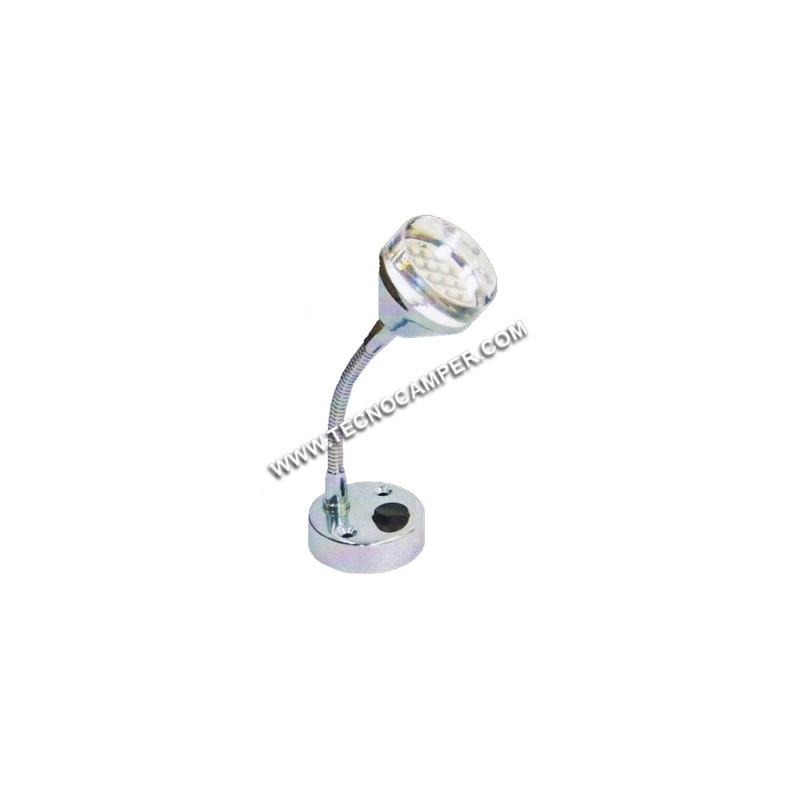 Faretto con flessibile 12 LEDs SMD plus Bianco caldo K3600