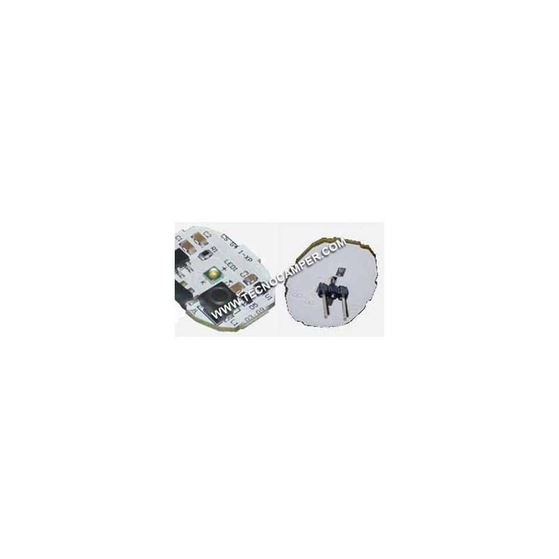Modulo a 1 Power LEDs XPC - attacco posteriore BIANCO CALDO