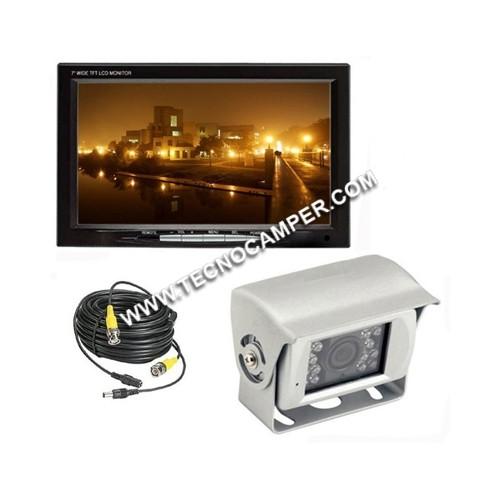Kit retromarcia: monitor LCD 7 + retrocamera infrarosso CCD