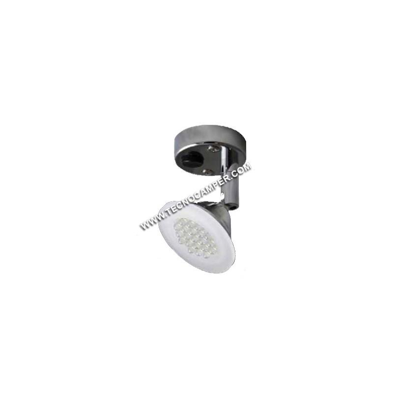 Faretto con snodo SPOT a 12 LEDs Super Bright K6500