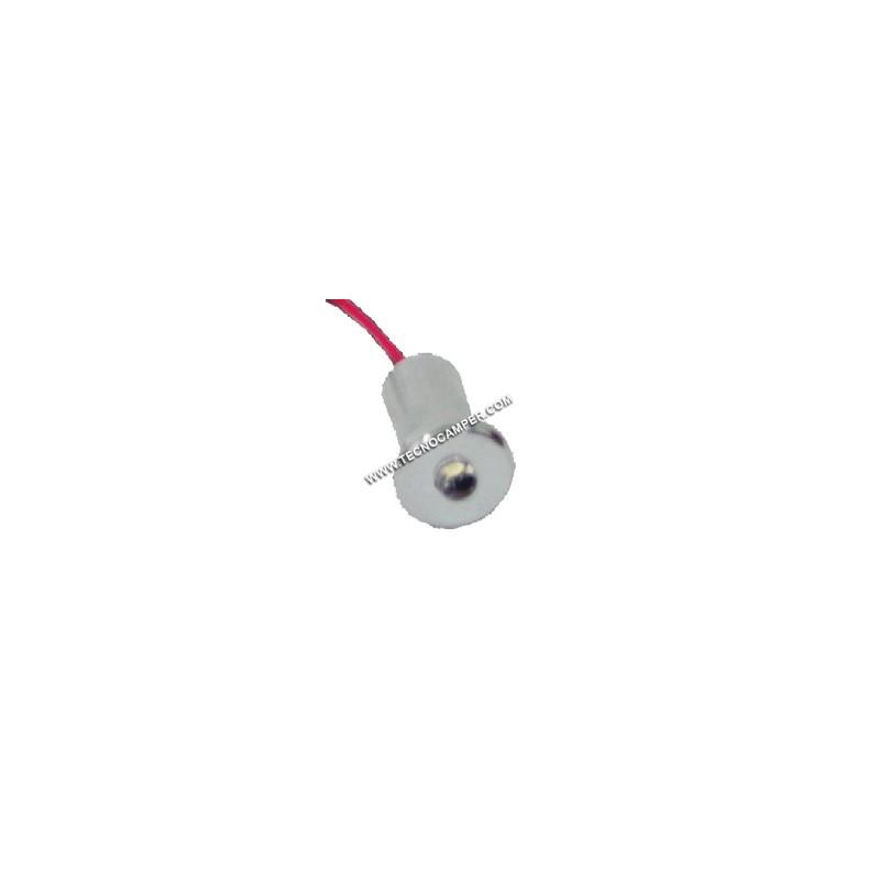 Faretto segnapassi rotondo a 1 LEDs Super Bright in ottone blu - Tecnocamper