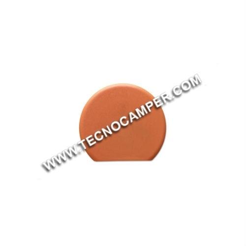 Tappo per fissa mobile circolare ciliegio