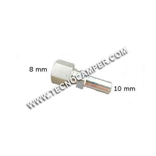 Raccordo/riduttore dritto da 8 a 10 mm